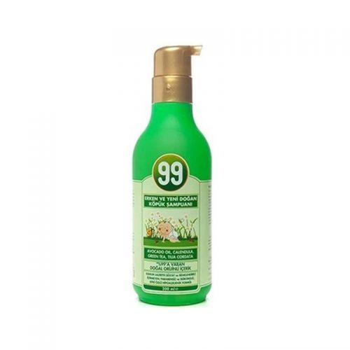 99 Bebek - 99 Bebek Yeni Doğan Bebekler için Köpük Şampuanı 200ml