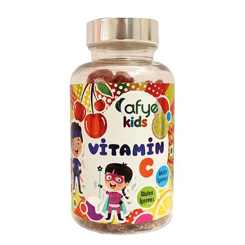 Afye - Afye Kids Güçlendirilmiş Şeker Acerola-Vitamin C 50 Ayıcık