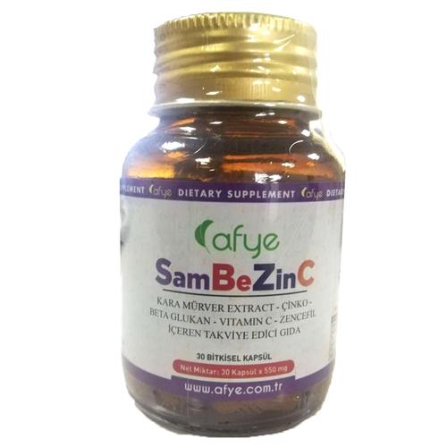 Afye - Afye SamBeZinC Takviye Edici Gıda 30 Kapsül