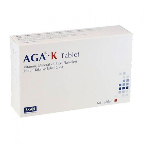 Assos İlaç - AGA-K Takviye Edici Gıda 60 Tablet