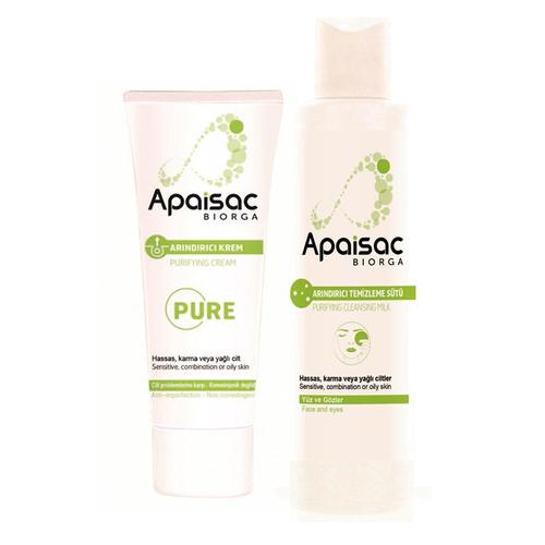 Biorga - Apaisac Biorga Purifying Cream 40 ml | Arındırıcı Temizleme Sütü 200 ml