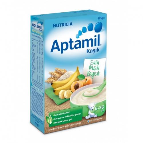 Nutricia - Aptamil Sütlü Muzlu Kayısılı Kaşık Mama 225 gr | 6-36 ay
