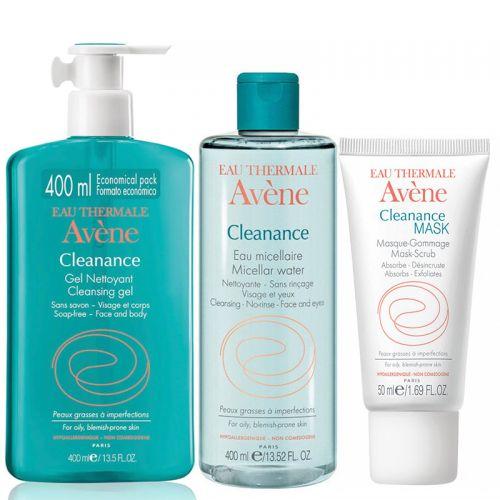 Avene - Avene Akneye Eğilim Gösteren Ciltler için Komple Temizlik Paketi