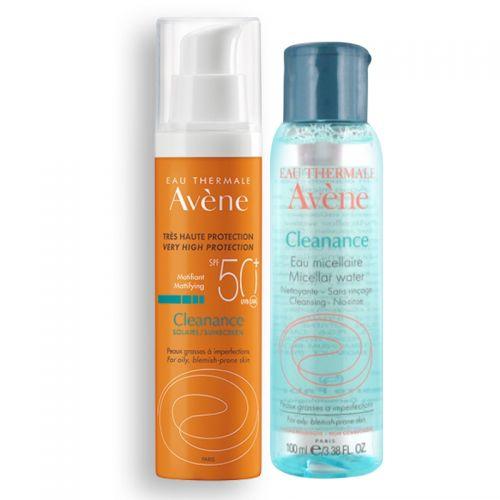 Avene - Avene Cleanance Güneş Kremi Spf50+ 50 ml + Temizleme Suyu HEDİYE