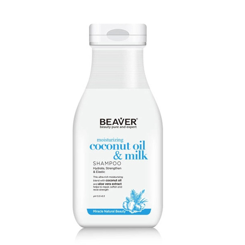 Beaver - Beaver Coconut Oil Milk Moisturizing Shampoo 60 ml