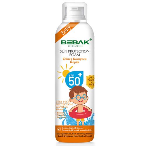 Bebak - Bebak SPF 50+ Bebekler için Güneş Koruyucu Köpük 150 ml