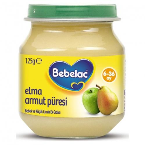 Nutricia - Bebelac Elma Armut Püresi 125 gr | +6 Ay