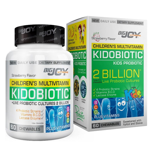 Bigjoy Vitamins - Bigjoy Kidobiotic Kids Probiotic 60 Çiğneme Tableti