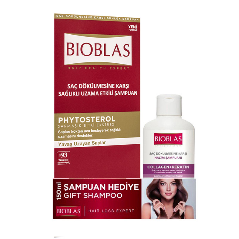 Bioblas - Bioblas Saç Dökülmesine Karşı Bakım Şampuanı 360 ml+ 150 ml Hediyeli