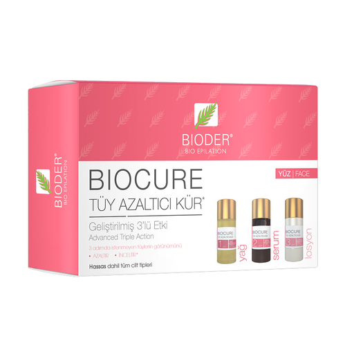 Bioder - Bioder Biocure Tüy Azaltıcı Kür 3 x 5 ml - Yüz Bölgesi