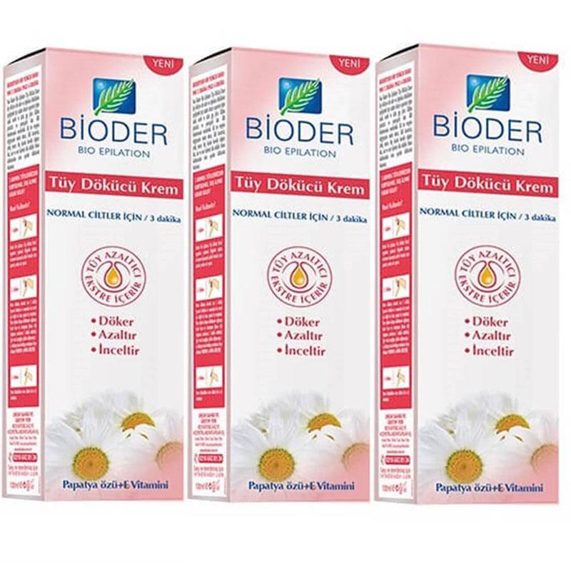 Bioder - Bioder Tüy Dökücü Krem 3x100ml