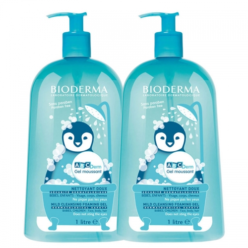 Bioderma Abcderm - Bioderma Abcderm Foaming Cleanser 2 x 1 Litre