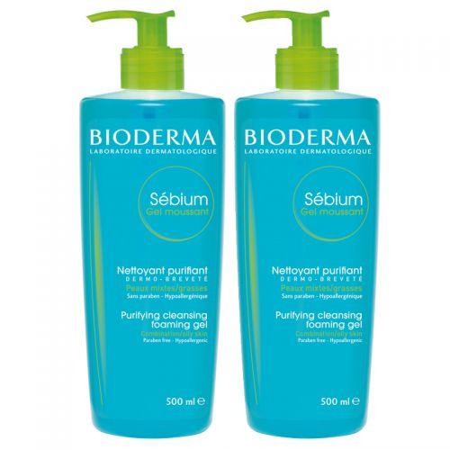 Bioderma - Bioderma Sebium Foaming Temizleme Jeli 2x500 ml