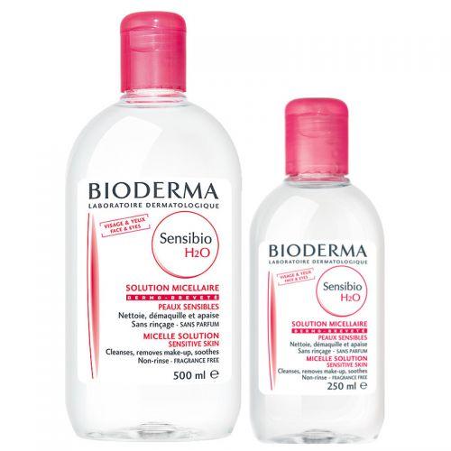 Bioderma - Bioderma Sensibio H2O 500 ml + Sensibio H20 250 ml SET