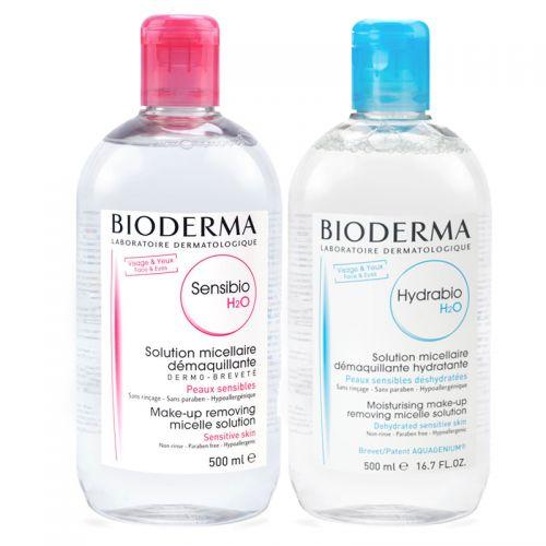 Bioderma - Bioderma Sensibio H2O 500ml + Bioderma Hydrabio H2O Misel Solüsyon 500ml
