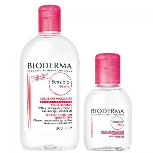 Bioderma - Bioderma Sensibio H2O 500ml + Sensibio H20 100 ml SET