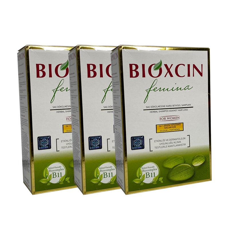 Bioxcin - Bioxcin Femina Şampuan 3al 2öde Boyalı Yıpranmış Saçlar