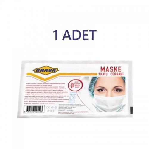 Brava - Brava 3 Katlı Paketli Tekli Maske
