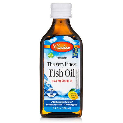 Carlson - Carlson Fish Oil Omega 3 Balık Yağı Şurubu Limon Aromalı 200ml