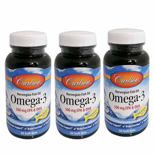 Carlson - Carlson Omega-3 500 mg Fish Oil Balık Yağı 50 Kapsül 3'lü