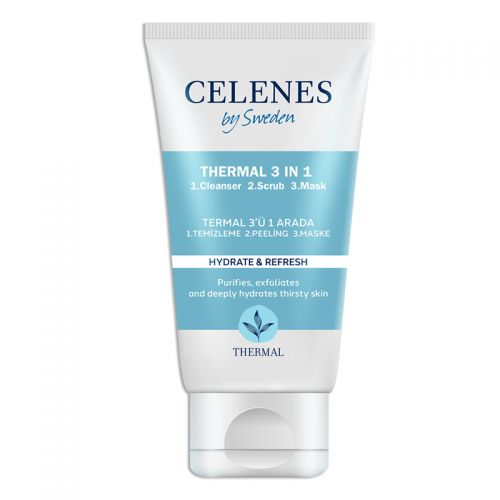 Celenes By Sweden - Celenes By Sweden Thermal 3'ü 1 Arada Yıkama Peeling Maske 150 ml