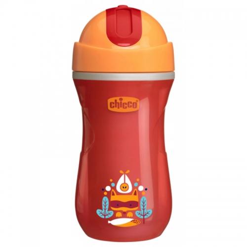 Chicco - Chicco Sport Cup Isı Yalıtımlı Spor Bardak 266 ml - Pipetli