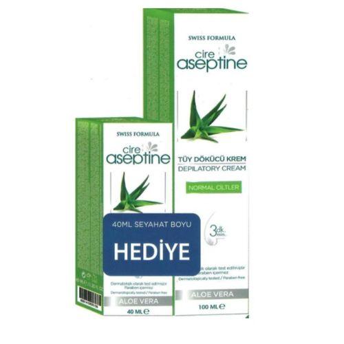 Cire Aseptine - Cire Aseptine Tüy Dökücü Krem 100ml+ Seyahat Boyu 40 ml Hediye (Normal Ciltler)