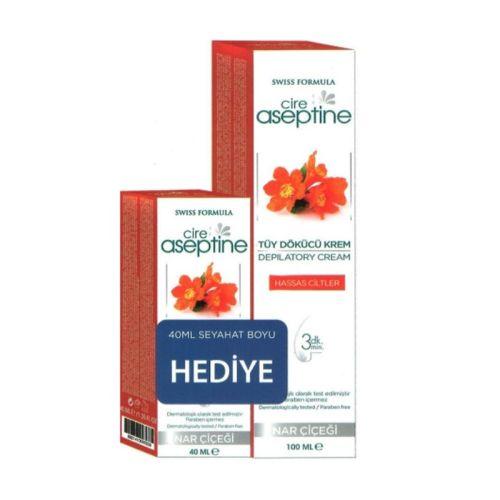 Cire Aseptine - Cire Aseptine Tüy Dökücü Krem 100ml+ Seyahat Boyu 40 ml Hediye (Hassas Ciltler)
