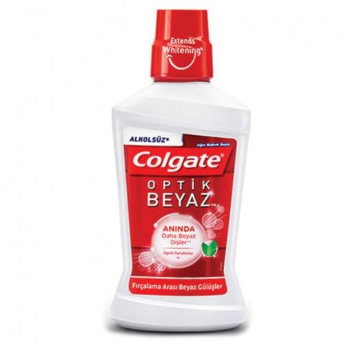 Colgate - Colgate Alkolsüz Optik Beyaz Ağız Bakım Suyu 250 ml