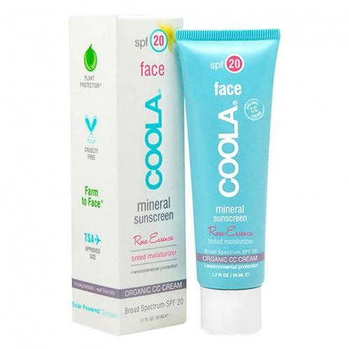 Coola - Coola Mineral Face Sunscreen Spf20 Rose Essence CC Cream 50ml - Kuru - Hassas Cilt