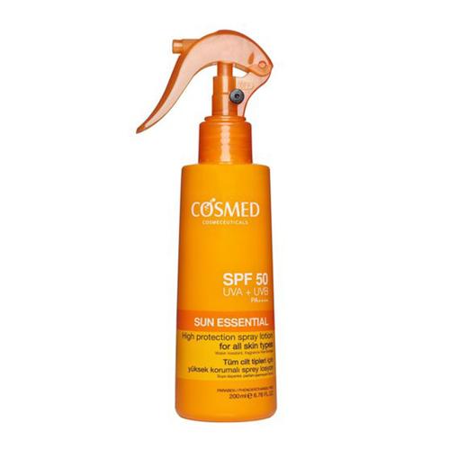 Cosmed - Cosmed Sun Essential SPF50 Yüksek Korumalı Sprey Losyon 200 ml