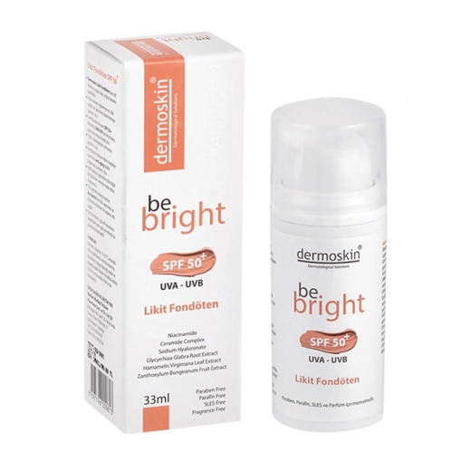 Dermoskin - Dermoskin Be Bright SPF50+ Likit Fondöten 33ml - Medium