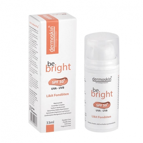 Dermoskin - Dermoskin Be Bright SPF50+ Likit Fondöten 33ml - Light