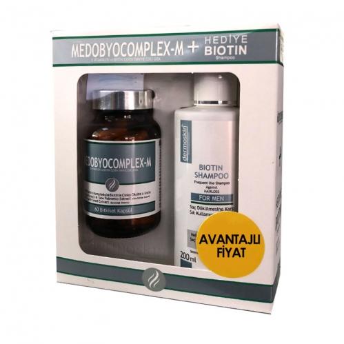 Dermoskin - Dermoskin Medobiocomplex-e +Biotin Şampuan Hediyeli Paket