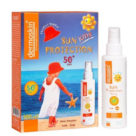 Dermoskin - Dermoskin Sun Protection Kids SPF50+ Spray 100ml - Şapka Hediyeli