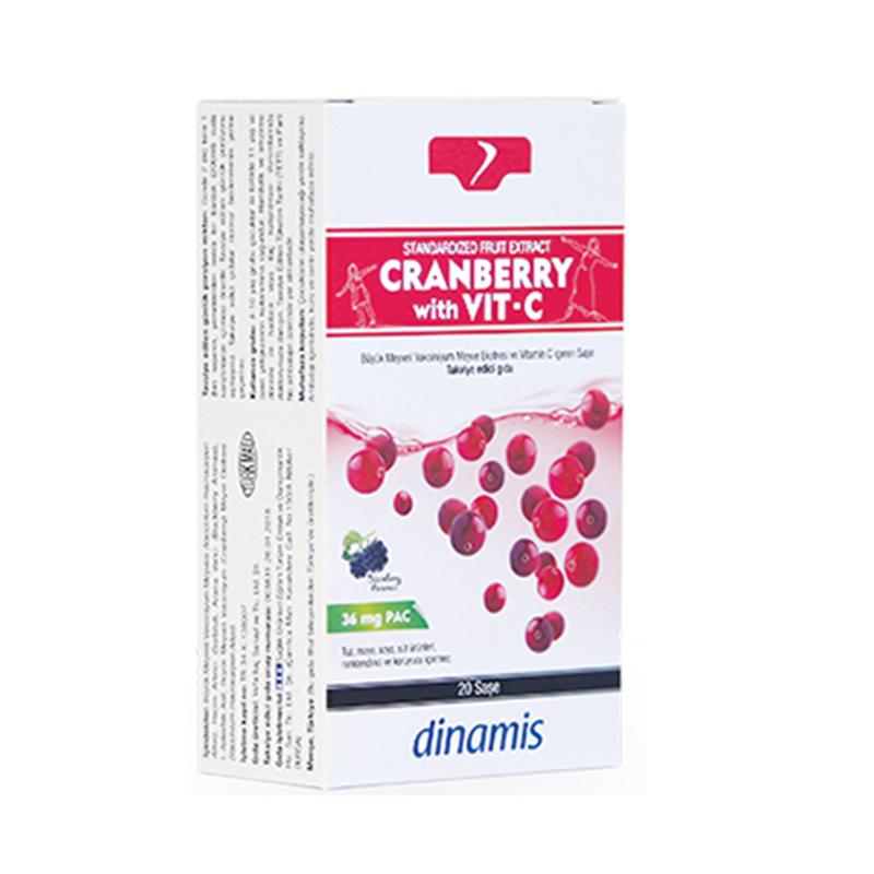 Dinamis - Dinamis Cranberry with Vit-C Takviye Edici Gıda 20 Saşe