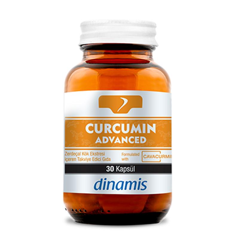 Dinamis - Dinamis Curcumin Advanced Zerdeçal Kök Ekstresi İçeren Takviye Edici Gıda 30 Kapsül
