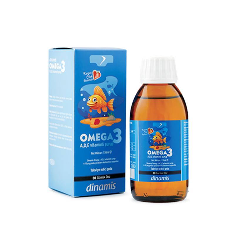 Dinamis - Dinamis Omega 3 A-D-E Vitaminli Şurup 150 ml