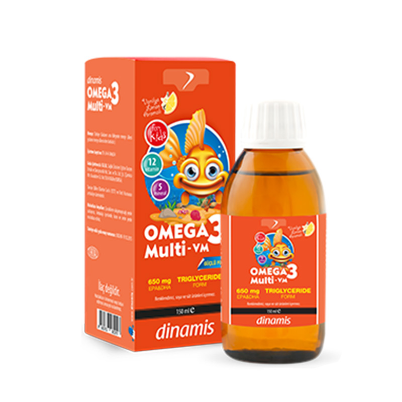 Dinamis - Dinamis Omega 3 Multi-Vm İçeren Takviye Edici Gıda Şurup 150 ml