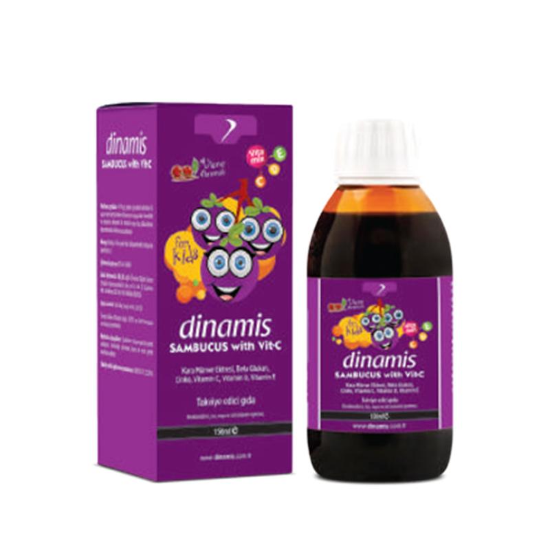 Dinamis - Dinamis Sambucus with Vit-C İçeren Takviye Edici Gıda 150 ml