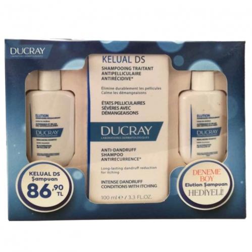 Ducray - Ducray Kelual Ds İnatçı Kepeğe Karşı Şampuan 100 ml   2x30 ml Elution Şampuan HEDİYELİ