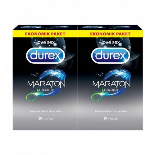 Durex - Durex Maraton Ekonomik Paket 20+20 Adet Prezervatif