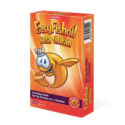 EasyVit - Easyvit EasyFishoil Beta Glukan Çiğnenebilir 30 Jel Form