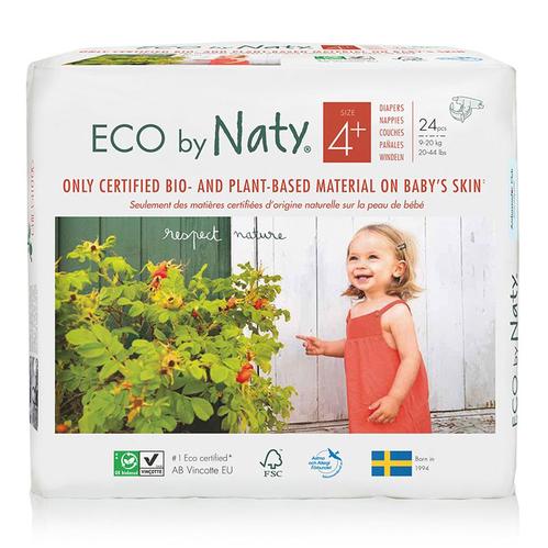 Eco by Naty - Eco by Naty Bebek Bezi Maxi Plus 24 Adet No-4+