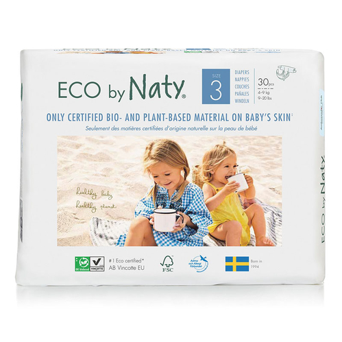 Eco by Naty - Eco by Naty Bebek Bezi Midi 30 Adet No-3