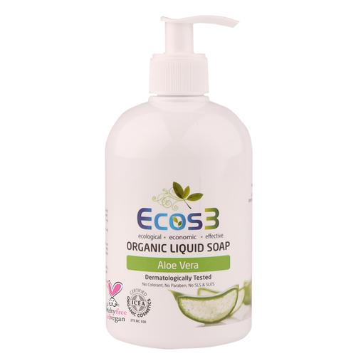 Ecos3 - Ecos3 Aloe Vera Özlü Organik Sıvı Sabun 500 ml