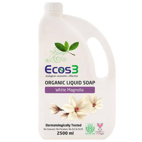 Ecos3 - Ecos3 Organik Beyaz Manolya Kokulu Sıvı Sabun 2500 ml