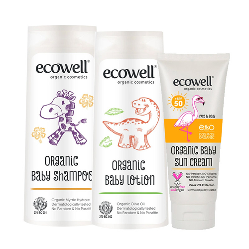 Ecowell - Ecowell Organik Bebek Bakım Seti