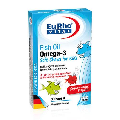 EuRho Vital - EuRho Vital Omega-3 Soft Chews for Kids Takviye Edici Gıda 30 Kapsül