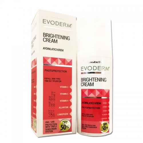Evoderm - Evoderm Brightening SPF 50+ Aydınlatıcı Krem 50 ml